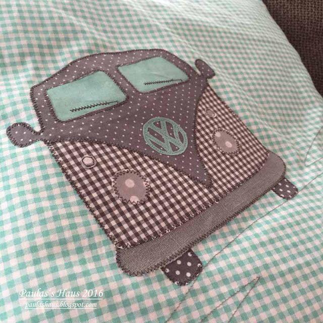 VW Bus Kissen nähen