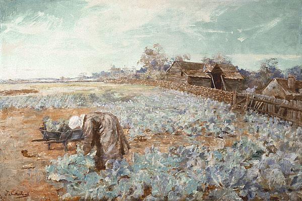 A Cabbage Garden, Jane Sutherland