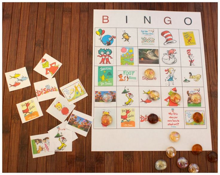 Dr Seuss Bingo Game Free Printable includes 10 game boards and game pieces. This is available via a free printable from momsreview4you.
