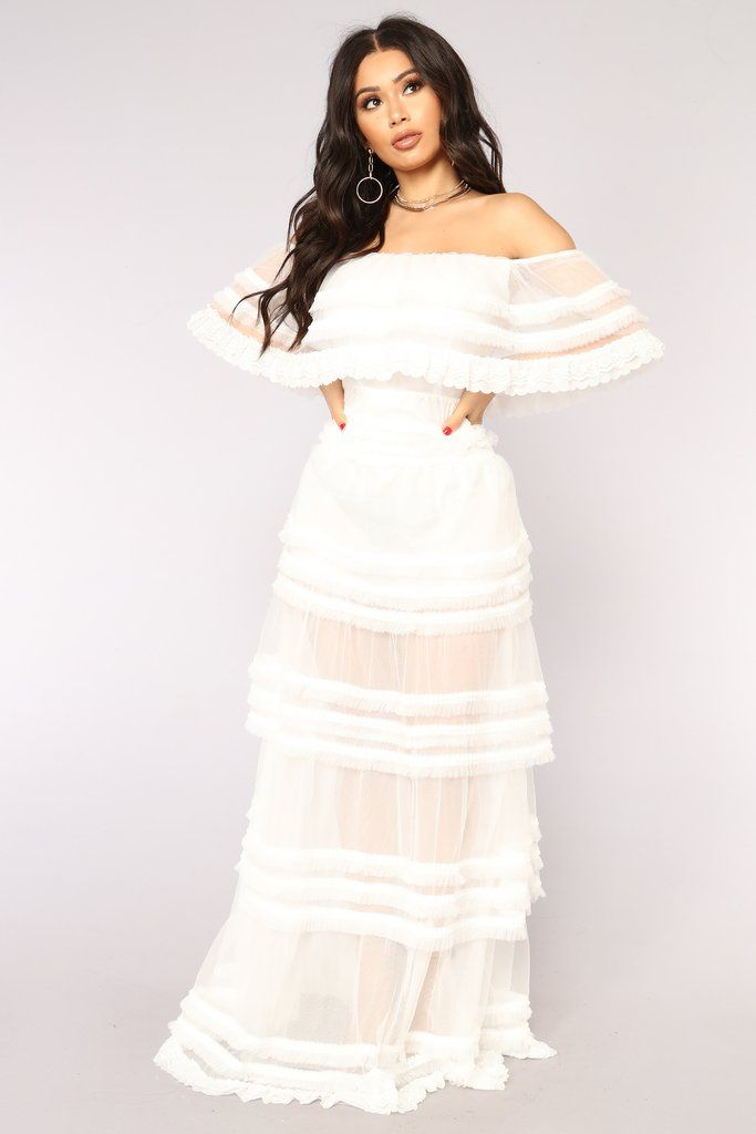 15279764c6 Reine Mesh Dress - White in 2019 | Fashion Nova | Dresses | White ...