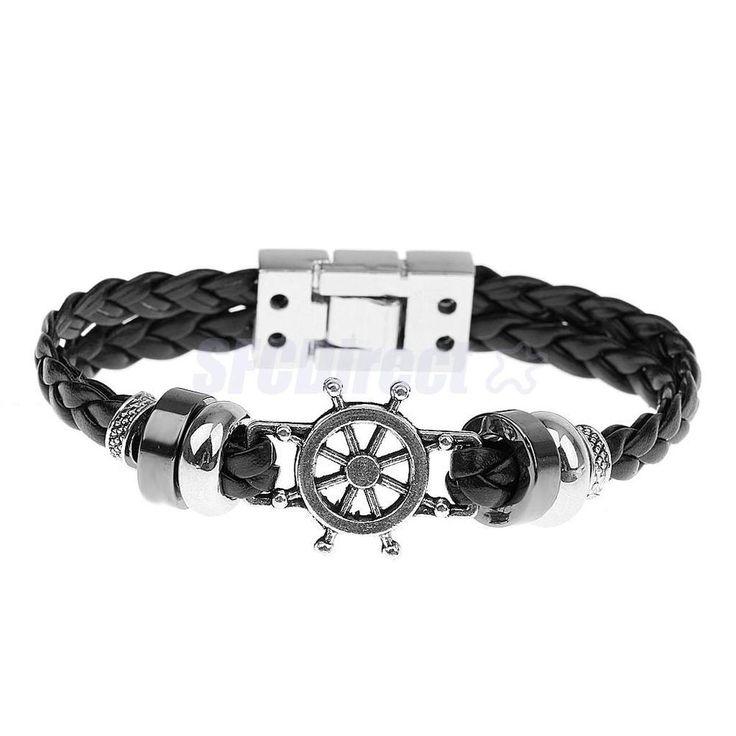 Унисекс руля оплетка из полиуретановой кожи серфер браслет браслет манжеты браслет черный | Украшения и часы, Украшения для мужчин, Браслеты | eBay!