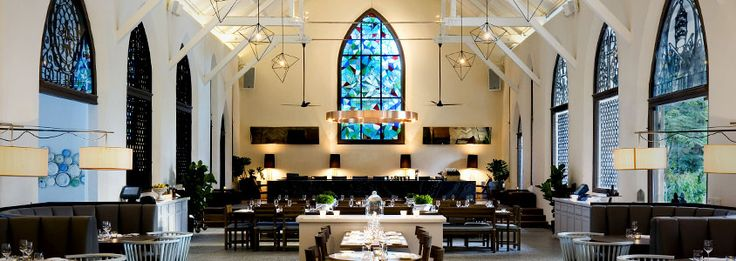 Gorgeous dining room at White Rabbit restaurant, Singapore