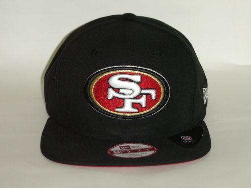 New Era 9Fifty NFL San Francisco 49ers Logo Black Snapback Cap NewEra