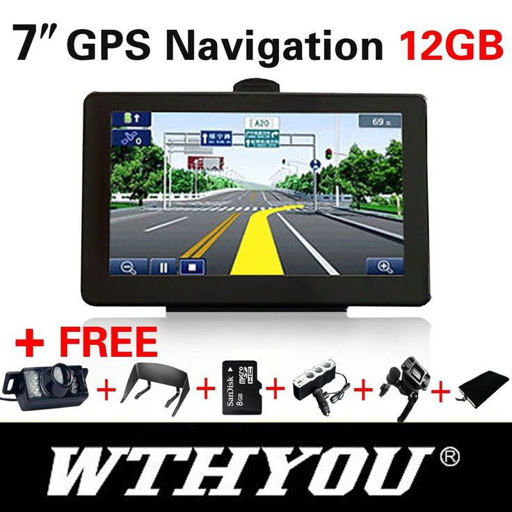 "NEW  7"" GPS HD CAR NAVIGATION 12GB + LED WIRELESS REVERSE CAMERA #WTHYOU"