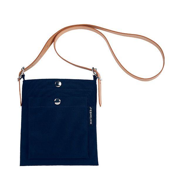 Dark blue Pasi bag by Marimekko.