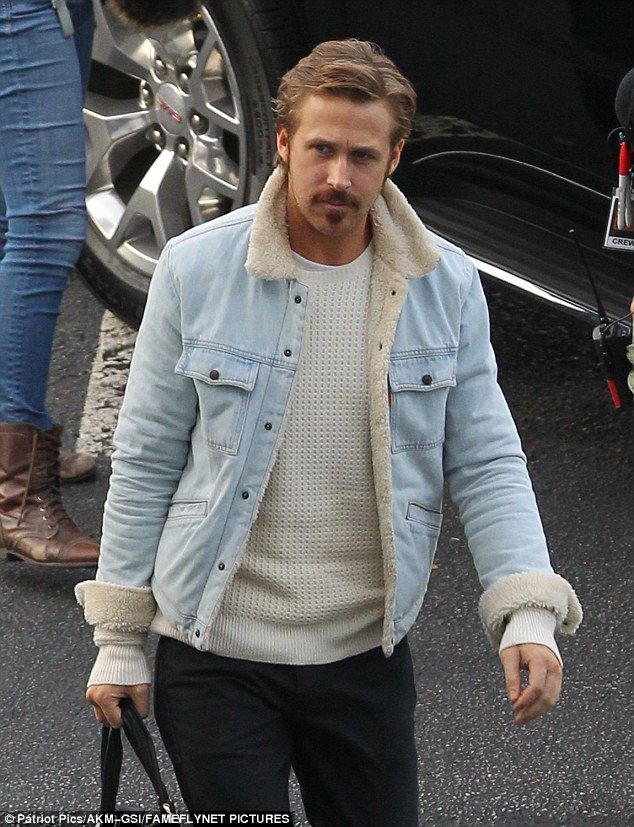 The cool guy: Ryan Gosling looked cool, calm and collected on the Atlanta, Georgia, set of Nice Guys on Friday