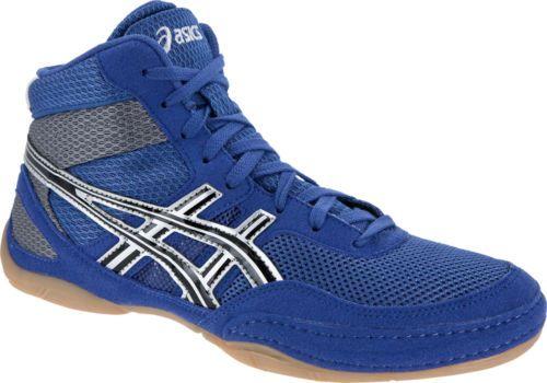 Asics-Matflex-3-GS-NEW-Sz-K12-Youth-Kid-Boys-Royal-BLUE-Wrestling-Shoe-C129N-Fly