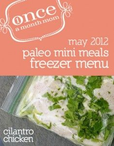 Freezer cooking menu for those on Paleo or Primal diet. Grocery list, instructions, recipe cards and more.