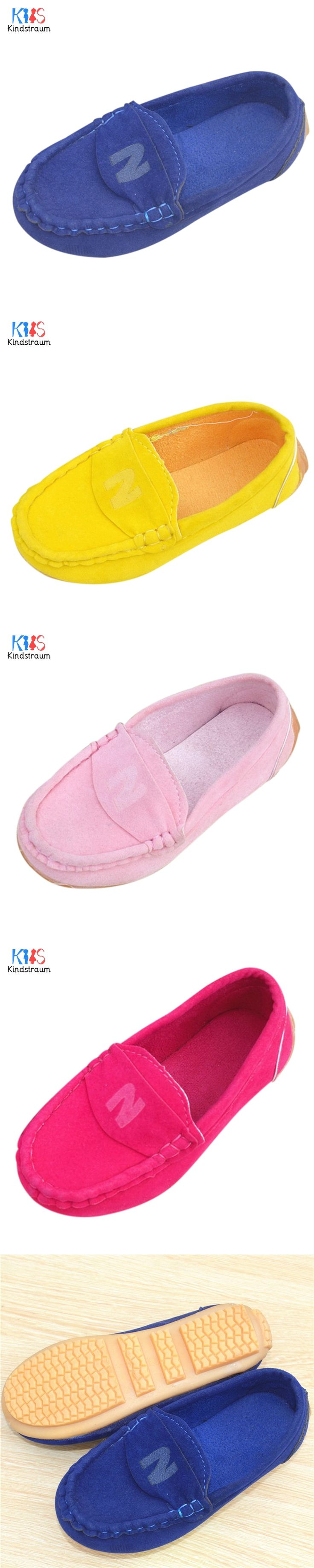 Kids Suede Loafers 2017 New Spring Children Casual Letter Print Cow Muscle Bottom School Single Shoes for Boys & Girls,EJ085