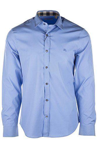 BURBERRY Burberry Men'S Long Sleeve Shirt Dress Shirt Blu. #burberry #cloth #