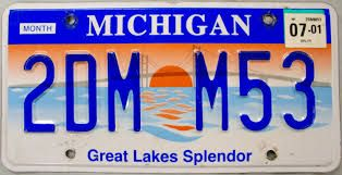 Image result for michigan license plate Great Lakes