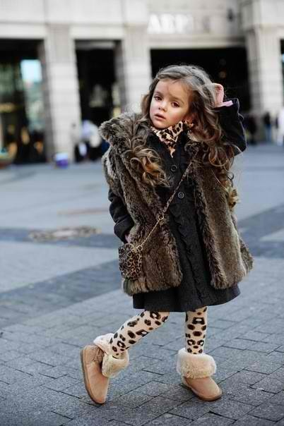 Yup. Totally my kid.: Fur Coats, Little Girls, Little Divas, Future Daughters, Kids Fashion, Outfit, Dresses, Leopards, Future Kids