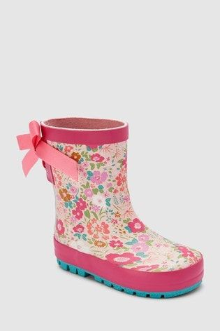 3d572560ee7c Pink Tie Wellies (Younger) | for eleanor's wardrobe | Pink ties ...