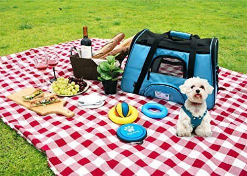 Dog Cat Pet Airline Approved Carrier Cabin Travel Soft-Sided Crate Cage Kennel #PetAmi