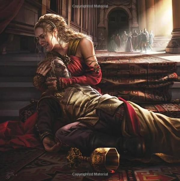 Cersei and Joffrey Baratheon. A Song of Ice and Fire Calendar 2016