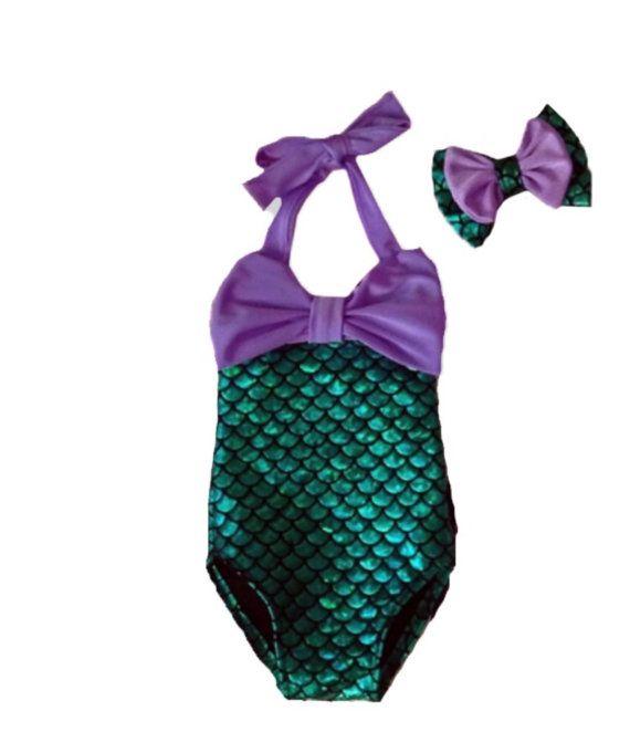 REGINA Little girl mermaid swimsuit Little Mermaid by MTBGBOUTIQUE