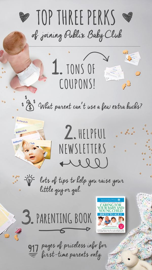 Sign up for the Publix Baby Club for savings in the baby aisle and beyond, exclusive coupons, easy recipe ideas, tips, tricks, and more.