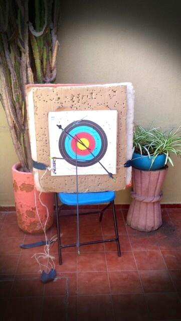 Prácticas de tiro con mi primo Pin!!! 15mts primera vez!!!