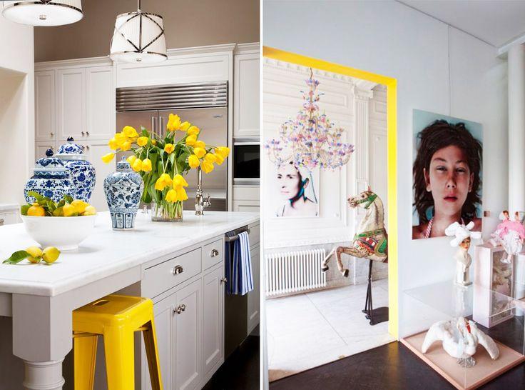 Мы собрали для вас 34 идеи, как можно привнести желтые детали и мебель в интерьер: от очевидных до необычных.