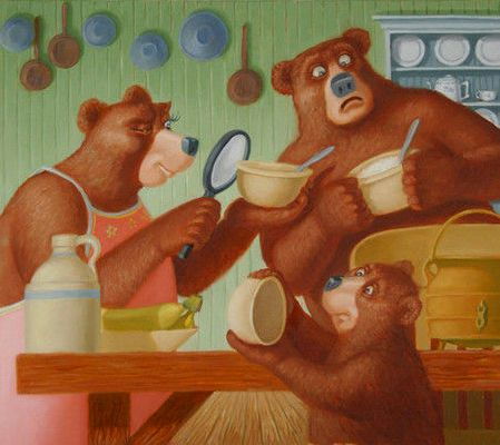 Riccioli d'oro e i tre orsetti