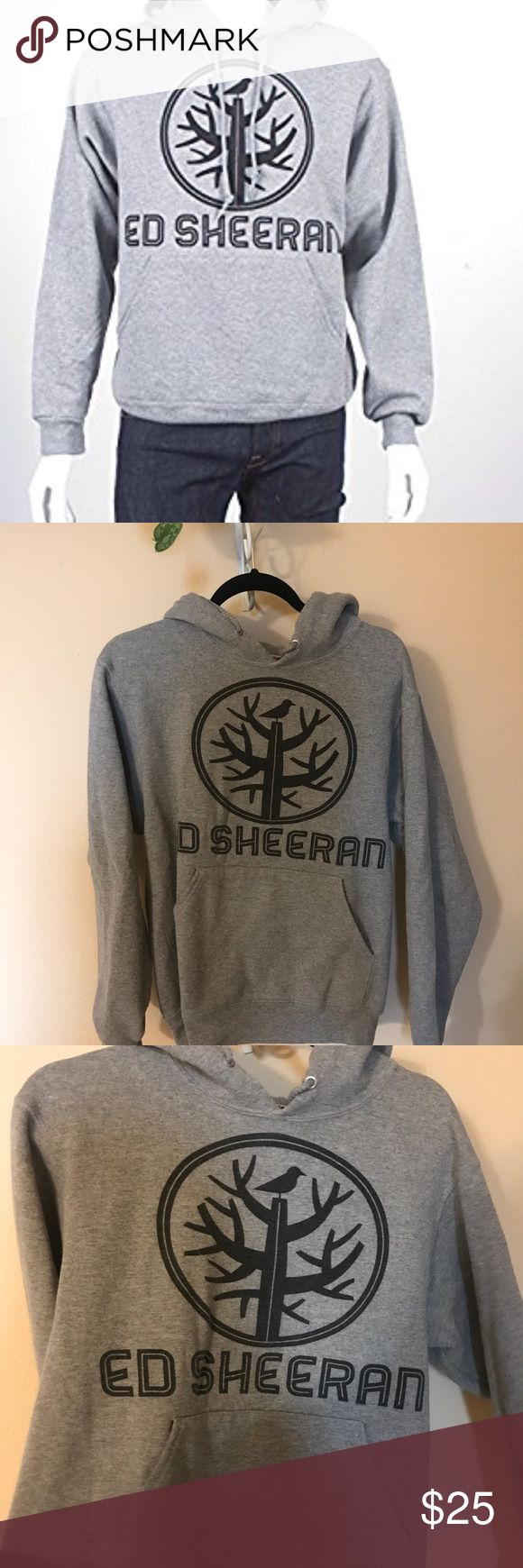 Ed Sheeran original tree hoodie Gray warm Ed Sheeran hoodie! Worn only a few times bought at his concert! Nu Collective Jackets & Coats