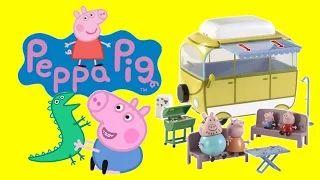 YouTube. Peppa pig toys. Peppa pig camper van toy. Peppa pig creative play. Peppa pig visits dinosaur park.