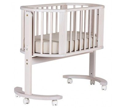 $479 Bebe Care Nordica Cradle White Wash - Cradles & Bassinets - Cots, Changetables, Furniture | Baby Bunting