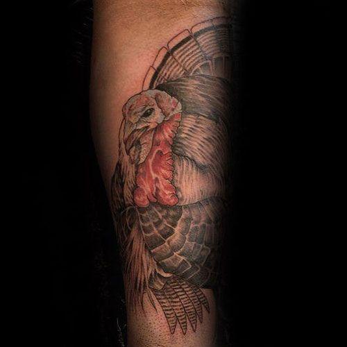 Forearm Turkey Tattoo