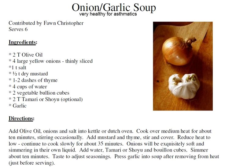 This is a very healthy diet soup recipe for treatment of the lung and the respiratory system. The Onion/Garlic and Olive oil soup should be taken everyday for healing acute bronchitis, mucus phlegm,...