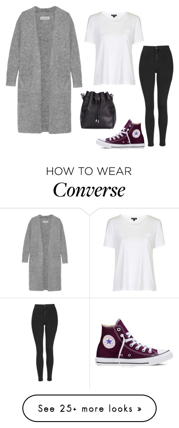 """""""Untitled #1315"""" by oswaldforthewin on Polyvore featuring Converse, By Malene Birger, Proenza Schouler, Topshop, women's clothing, women's fashion, women, female, woman and misses"""