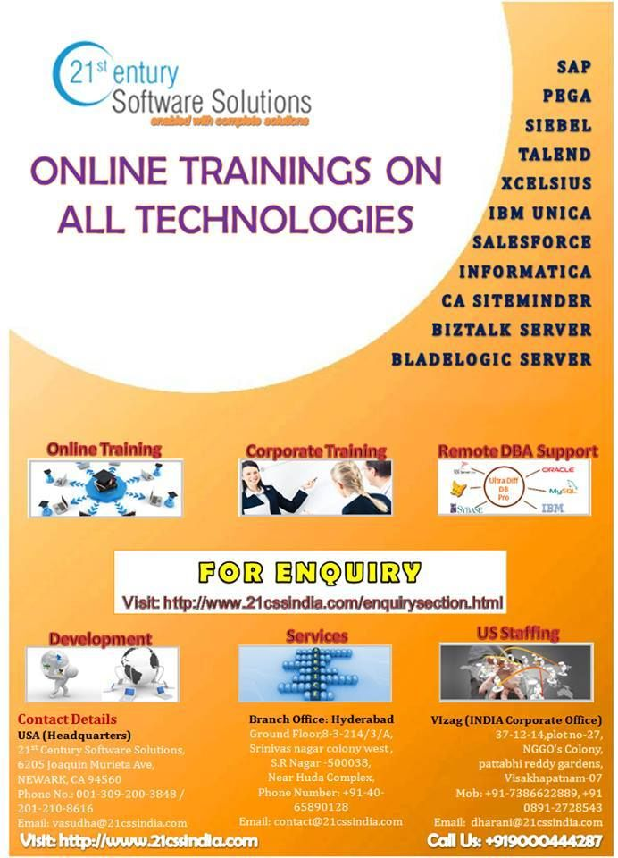 """Employees to learn at their own pace and maintain control of learning """"where, when and how"""" with boundless access 24/7by 21st Century Software Solutions. http://www.21cssindia.com/courses/oracle-golden-gate-11g-online-training-232.html"""