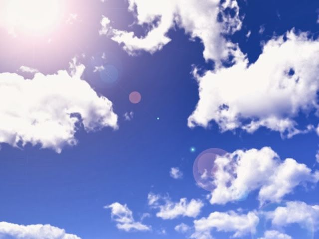 Anime Landscape Blue Sky And White Clouds Anime Background Sky Anime Anime Background Blurred Background Photography Blurred background anime wallpaper