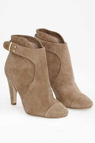 Pair with my beat up boyfriend jeans // French Connection Rosa Suede Ankle Booty