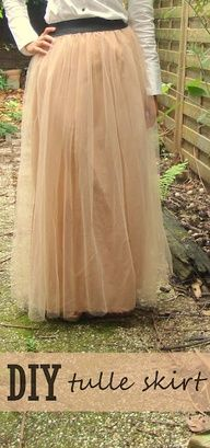 Tulle maxi skirt. Maybe two layers instead of just one. But I love this as a maxi skirt.  I'd definitely add a zipper as well... Tough but worth it