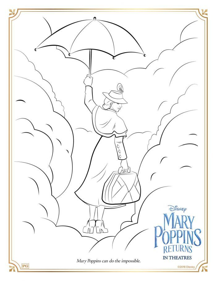 Mary Poppins Returns Printable Coloring Pages And Activity Sheets