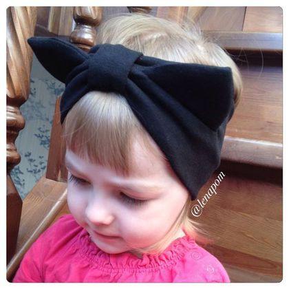 """Одежда для девочек, ручной работы. Повязка-котенок на голову. """"Уютные шапочки и шапки, снуды"""". Ярмарка Мастеров. Одежда, Аксессуар для девочки"""