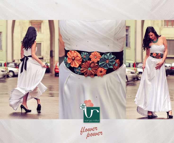 #kanzashi #flowers #textile #belt