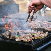 "TIMELESS GRILLING TIPS: 1~Prep beef w/herbs & spices, but NO SALT. Adding it b4 cooking draws moisture out, & w/moisture comes flavor! 2~Cooking over medium heat browns outside of steak & adds a depth of flavor you would not get from too-high or too-low of a temp. 3~Do NOT use a fork for turning!...That is how you lose juices. Use tongs for steaks & a pancake turner/""spatula"" for burgers. NEVER pat them down! 4~Steaks continue cooking off the grill; let them rest 3 minutes. More TIPS on…"