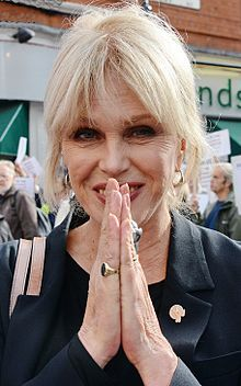Joanna Lumley, travel documentary presenter, actress, voice-over artist, former model, author and activist. birthday May 1, 1946