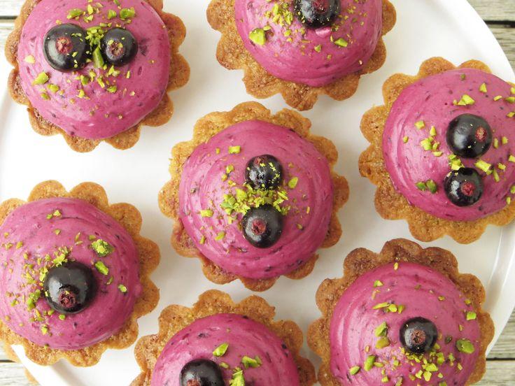 Pistaciemazariner med solbær