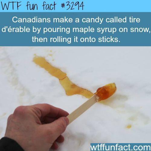 Tire d'erable, weird Canadian stuff - WTF fun facts