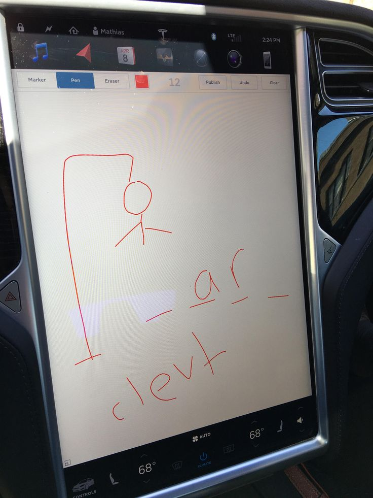 My wife found a new use case for the sketch pad easter egg on long drives #Tesla #Models #car #Automotive #cars #Autos