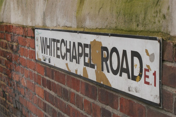 Whitechapel, London-- old stomping grounds for Jack the Ripper... and where the Elephant Man lived and died at the London Hospital.