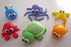 Mar criatura Cupcake Toppers  1 docena por sweetenyourday en Etsy