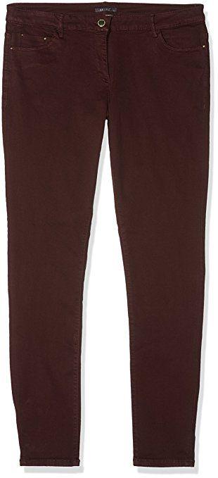 ESPRIT Collection Damen Hose 087EO1B023, Violett (Aubergine 515), WNA/L32(Herstellergröße:44)