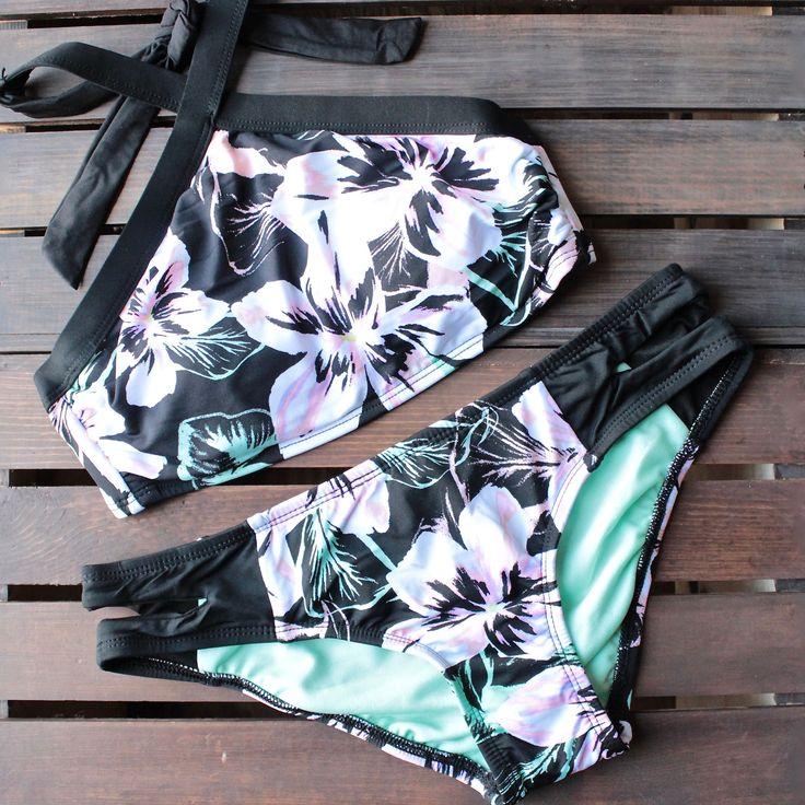 bikini lab - mix & match tropic full of sunshine high neck halter (top only)