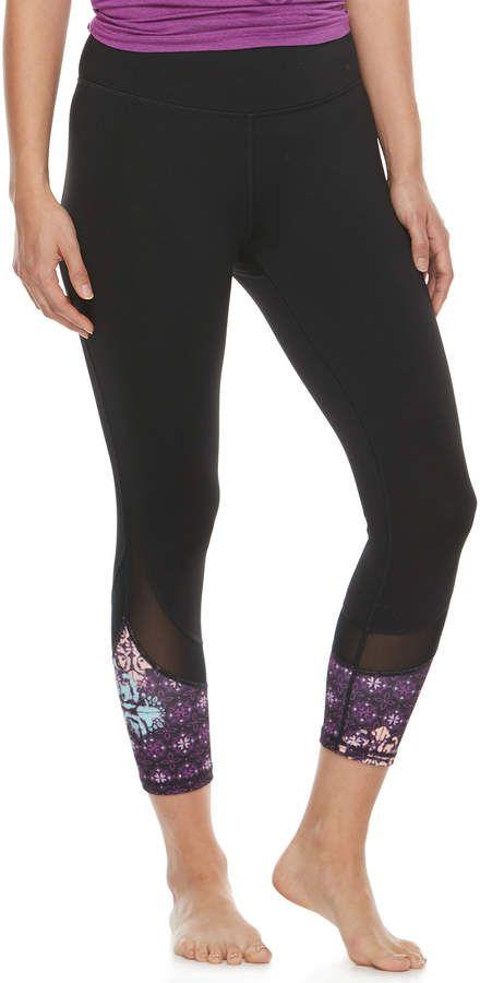 8ca59a9e45 Women's Gaiam Om Mesh Capri Yoga Leggings #afflink | Women's Fitness ...