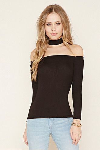 Off-the-Shoulder Choker Top