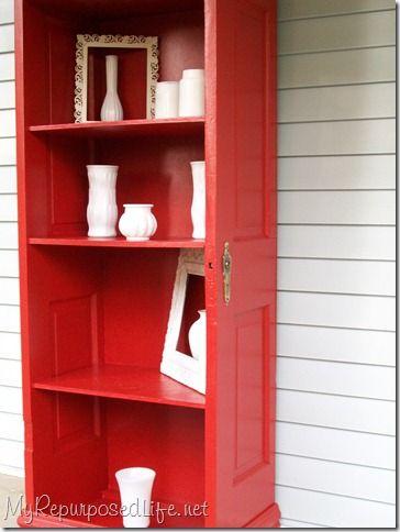 Door Repurposed into a Shelf