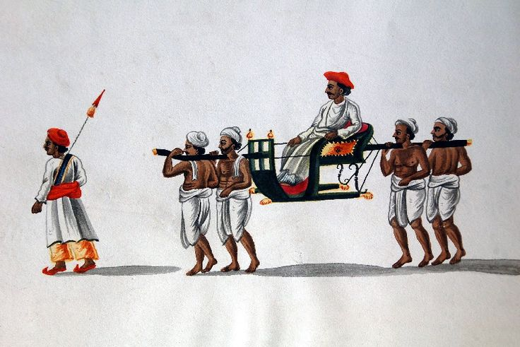 A company school painting of a sedan chair depicting the 'Merchant being transported by Bearers'. :) #painting #sedanchair #sedan #art #artist #travel #tour #heritage #transport #museum #vintagestyle #vintage #vintagecollection #explore